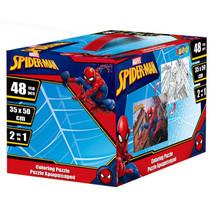 puzzel Spider-Man jongens 50 cm karton 48 stukjes
