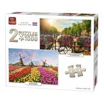 Legpuzzel Dutch Collection 2in1 1000 stukjes