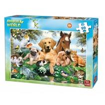 legpuzzel Animal World Huisdieren 99 stukjes