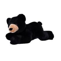 knuffel zwarte beer Ecokins junior 30 cm pluche zwart