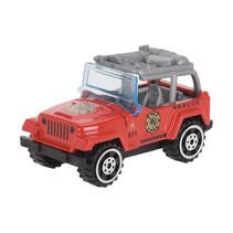 hulpdienstvoertuig Brandweerjeep jongens 7 cm staal rood