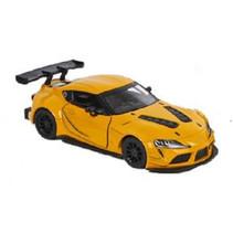 speelgoedauto Toyota GR junior 12,5 cm die-cast geel