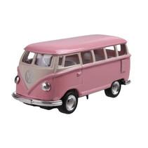 schaalmodel VW bus T1 pull-back 1:64 roze