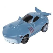 auto dierenprint Haai pull-back 8,5 cm lichtblauw
