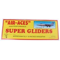 vliegtuig foam air-aces super silverarrow 45 cm zilver