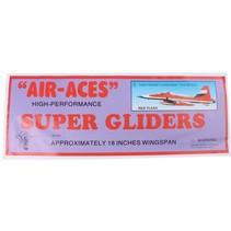 vliegtuig foam air-aces super red flash 45 cm rood