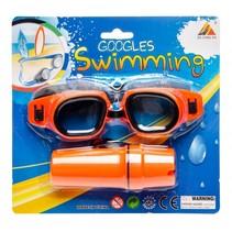 zwembril met brillenkoker oranje one-size