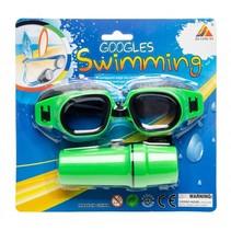zwembril met brillenkoker groen one-size