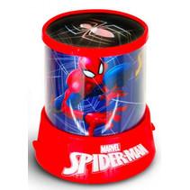 nachtlamp Spiderman junior 12 x 11 x 11 cm blauw/rood