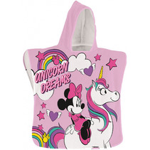 badponcho Minnie Mouse 50 x 100 cm polyester roze