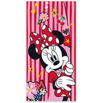 strandlaken Minnie Mouse meisjes polyester roze/rood