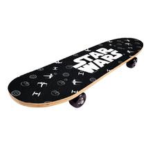 skateboard 61 x 15 x 10 cm hout zwart/wit