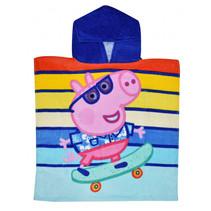 badponcho Turtley Cool Peppa Pig 100 cm katoen blauw