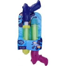 waterpistoolset junior 20 cm blauw/paars 2 stuks