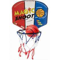 basketbalset 13,5 x 9 cm rood/wit/blauw 2-delig