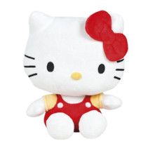 knuffel Hello Kitty junior 18 cm polyester rood/wit