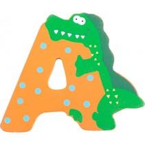 alfabet Dieren letter A hout 8 cm