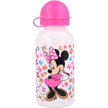 drinkfles Mickey Mouse junior 400 ml aluminium wit/roze