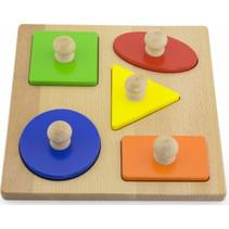 vormenpuzzel junior hout 5 stukjes