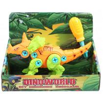speelfiguur DIY dino jongens 20 cm oranje/groen