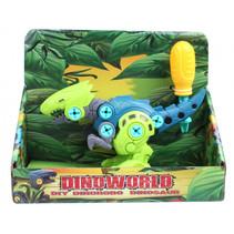 speelfiguur DIY dino jongens 20 cm donkerblauw/groen