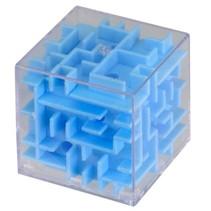 mini-doolhof blauw 4 x 4 x 4 cm