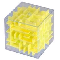 mini-doolhof geel 4 x 4 x 4 cm