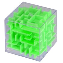 mini-doolhof groen 4 x 4 x 4 cm