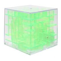 mini-doolhof transparant groen 4 x 4 x 4 cm