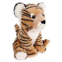 knuffel tijger junior 37 cm pluche bruin