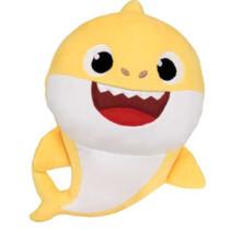 knuffel Baby Shark junior 30 cm polyester geel