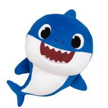 knuffel Baby Shark junior 30 cm polyester blauw