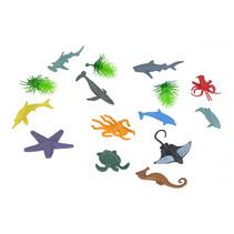 speelset zeedieren junior 15-delig