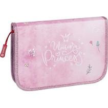 etui Princess meisjes 19,5 cm polyester roze 17-delig