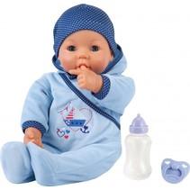 babypop Hello Boy 46 cm blauw 3-delig