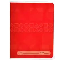 schrift A5 6-3-6-lijnen papier rood