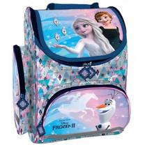 rugzak Frozen meisjes 37 x 27 cm textiel wit/roze