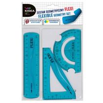 geometrie-set flexibel junior 15 cm blauw 3-delig