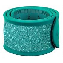 klaparmband Glitters liniaal junior 30 cm turquoise
