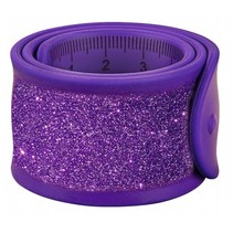 klaparmband Glitters liniaal junior 30 cm paars