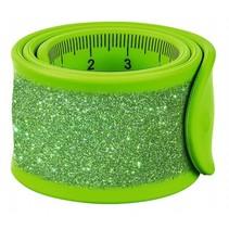 klaparmband Glitters liniaal junior 30 cm groen