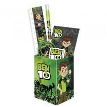 schrijfwarenset Ben 10 groen/zwart 5-delig