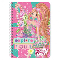 notitieboek Winx meisjes B5 roze 60 pagina's
