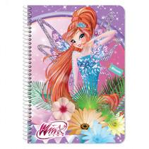 notitieboek Winx meisjes B5 paars 60 pagina's