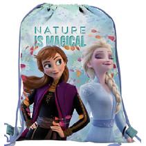 gymtas Frozen meisjes 5,8 liter polyester blauw/paars