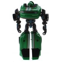 Flames Warrior transformer jongens auto groen 18 cm