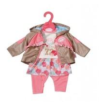 kledingset voor pop van 43 cm roze