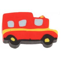 gum Brandweerwagen jongens 3,5 cm rubber rood