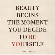 canvas schilderij 20 x 20 x 4 cm Be yourself