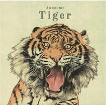 canvas schilderij 20 x 20 x 4 cm Tiger